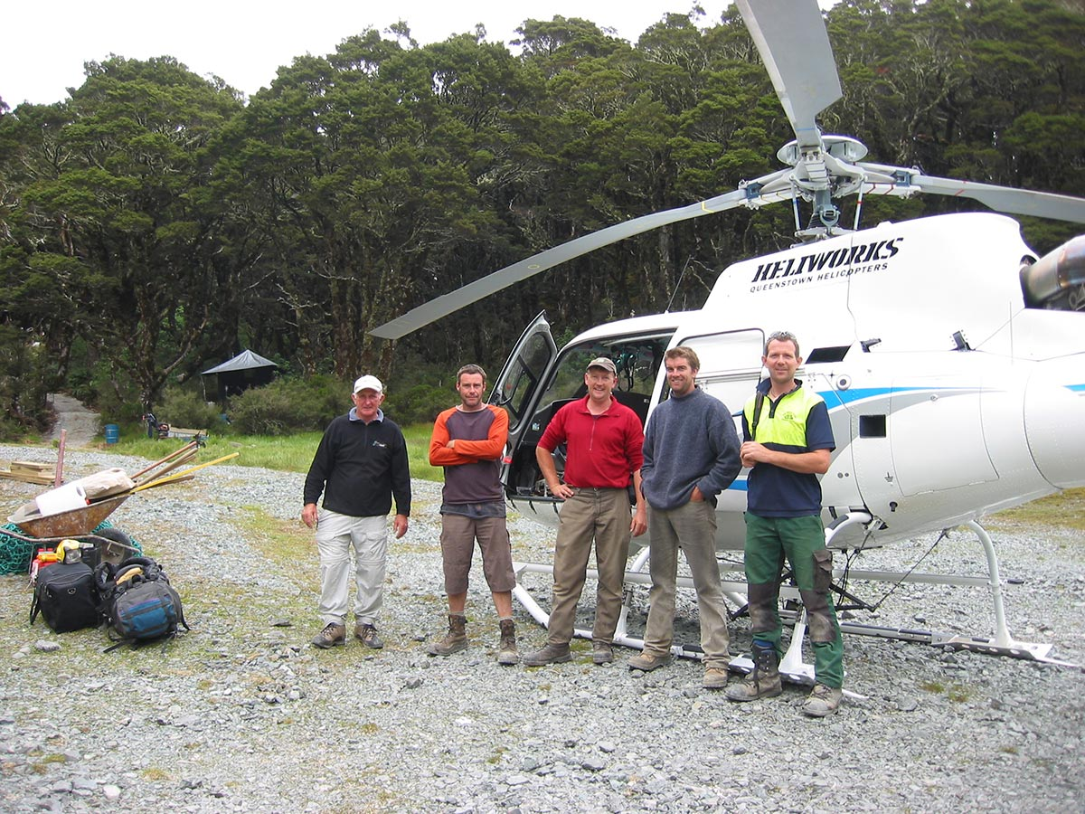 Crew working at Lake McKenzie