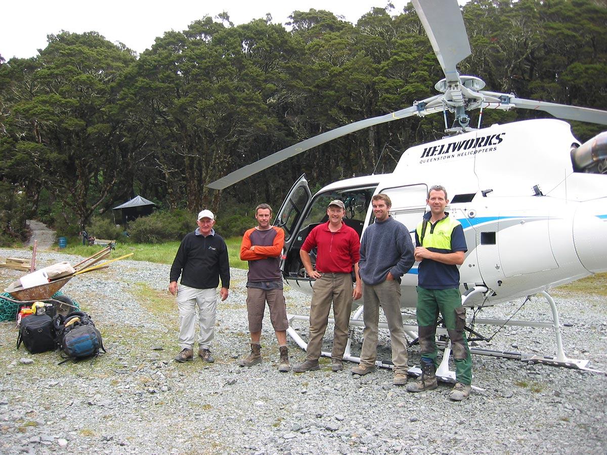 Crew working at Lake McKenzie